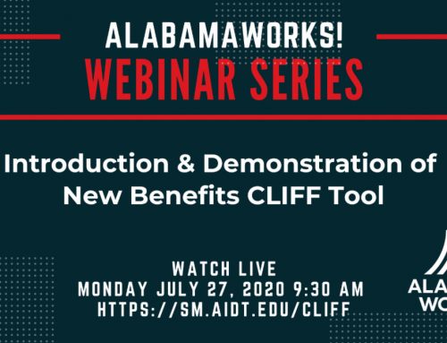 AlabamaWorks Webinar – Monday, July 27